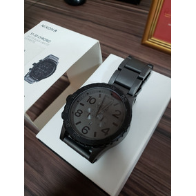 9e023a9f1ac Relógio Nixon 51 30 Chrono Matte Black Gold A083 1041 - Relógios De ...