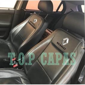 Capa Bancos Automotivos Couro Renault Logan 2008 A 2018