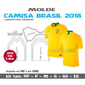 bd17dbcc6041e Molde De Camisa De Futebol no Mercado Livre Brasil