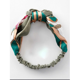 Diadema Bandana De Seda, Color Verde Preloved Luxury