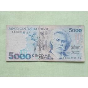 Nota Cedula 5000 Cruzeiros Carlos Gomes Cedula Usada