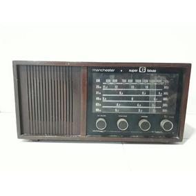 Radio Antigo De Madeira Manchester Super 6 Faixas