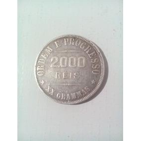 Moeda 2000 Réis Prata Ano 1907 República
