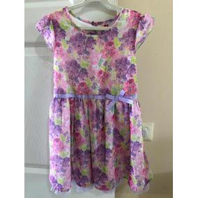 Vestido Para Niña 5t 5 Años Floreado Rosa Lila Exc Condicion