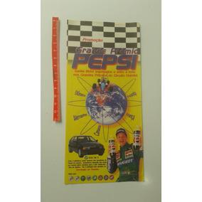 Folheto Promoção Grande Prêmio Pepsi 1996 Rubinho Faustão