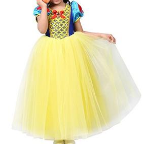 25f9c95cd2 Pamidadress Girls Disfraz De Princesa Blanco Como La Nieve V