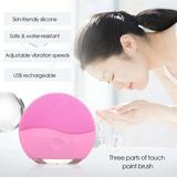 Limpiador Facial Recargable Silicon Cepillo Exfoliante Luna
