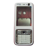 Carcasa Nokia N73 Nueva Blanca Y Plata Con Negro Tienda