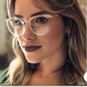 804448b472f94 Armação Óculos P grau Femenino Retro Metal Chic Novinho Cor