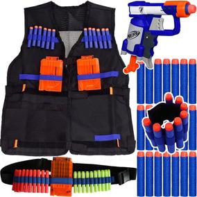 Kit Arma Pistola Jolt Nerf + Colete + Acessórios + 30 Dardos