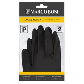 Luva Latex Black P C/ 2 Unid Profissional Cabeleiros 1495