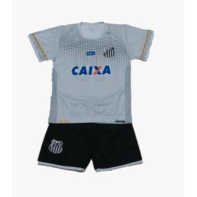 Conjunto Infantil Santos Santista Com Meiao Preto ! 4ee8082241d40