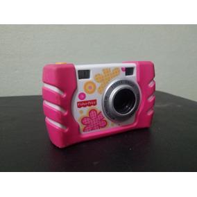 Câmera Digital Infantil Usada Rosa Da Fisher Price