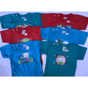 Kit Com 6 Camisetas Bebe Menino Maternidade P M G Masculino