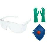 Kit De Epi Proteção Quimica, Mascara Óculos E Luva Nitrilica 0a01ddc8cc