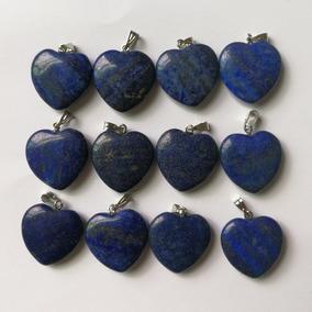 Corazón Lapislázuli Piedra Natural Dije Unisex Tamaño 2cm