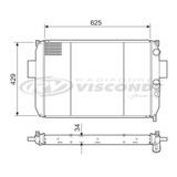 Radiador Agua Iveco Daily 2.8 Td C Ar Condicionado12550