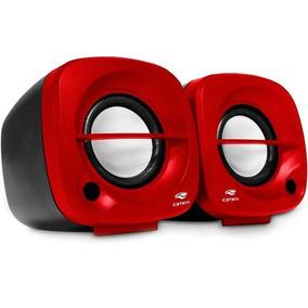 Caixa De Som 2.0 Sp-303rd Vermelha C3 Tech