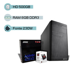 Cpu Gamer Amd A4 6300 3.7 Ghz, 8gb, 500gb, Radeon Hd 8370d