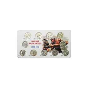1942 -1945 Wartime Silver Nickel 11 Coin Set Au / Bu