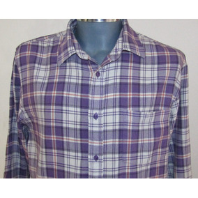 Flannel Authentic Wear Camisa A Cuadros Talla L