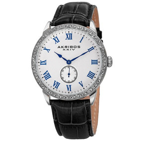 Reloj Akribos Xxiv Ak867ss Antique Silver-tone Con Grabado