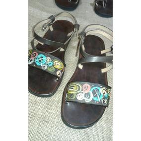 Sandalias De Cuero Artesanales