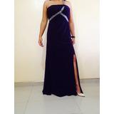 Elegante Vestido De Fiesta Importado Talla M Color Morado