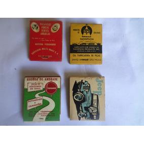 4 Caixas De Fósforos Década De 1950.