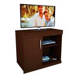 Mueble Mesa Tv Lcd Led Reforzada Con Puerta Estante Y Ruedas