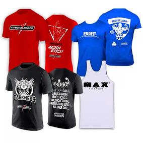1d4c5ca20 Combo 4x - Camisa Zyzz + Azul + Darkness + Regata Branca Max