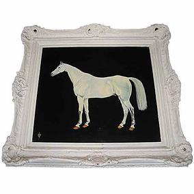 Óleo Sobre Tela Representando Um Cavalo