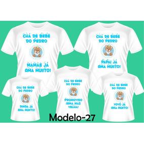 Camiseta Personalizada Cha De Bebe Masculina Calçados Roupas E