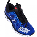 Tenis Mizuno Wave Sky 2 Ironman Tri Azul preto Original Nf 2c4bfe0214098