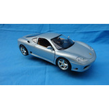 25 Carro De Colección Esc 1/18, Ferrari 360 Modena 1999 Gris