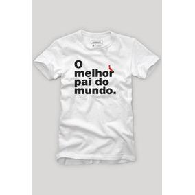 0201dd753e Camiseta Melhor Pai Do Mundo Estilizada - Camisetas Manga Curta no ...