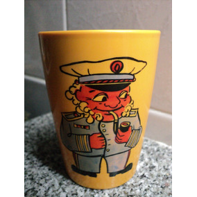 Antiguo Vaso Infantil Marinero Y Capitan Emsa W.germany