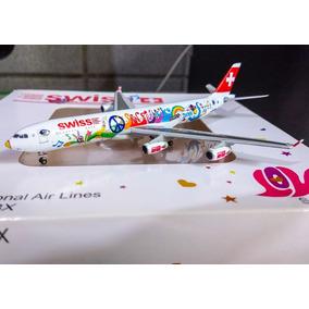 Miniatura Avião 1:400 - Airbus A340-300 - Swiss - Jc Wings