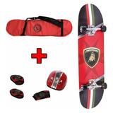Skate Patineta Lamborghini + Casco + Coderas Baby Shopping
