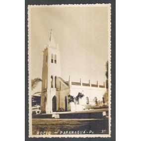 Postal Foto Brasil 31 Paranaguá Igreja Rocio Anos 50