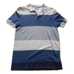 Polo Shirt Dkny Classic Fit Xs Hombre Azul-gris