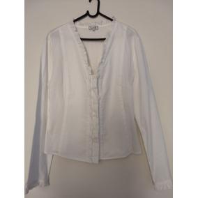 Camisa Blusa Feminina Branca Barreds Tamnho 44 Bom Estado 57ea61939ed