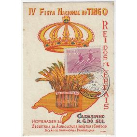 1955 Máximo Postal Festa Nacional Do Trigo Carasinho Joaçaba