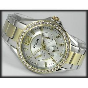337acc40df10 Reloj Fossil Mujer Es3204 Acero Originales Nuevos En Caja
