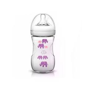 Mamadeira Avent Pétala 260ml (1+) - Elefante Rosa