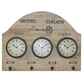 2df23fb4c19 Relógio De Parede Com Horario Mundial - Casa