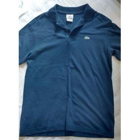 ca69d49f37693 Camisa Polo Infantil Lacoste Azul Original