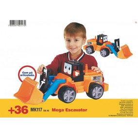 Trator Mega Escavator Com Pá Articulada Dismat 61centimetros