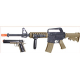 Colt Soft Air Colt M4a1 Ris Kit De Rifle De Resorte Y Pis