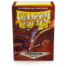 100x Sleeves Dragon Shield Magic The Gathering Matte Crimson